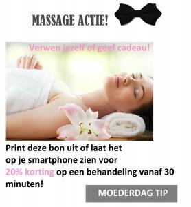 Massage actie